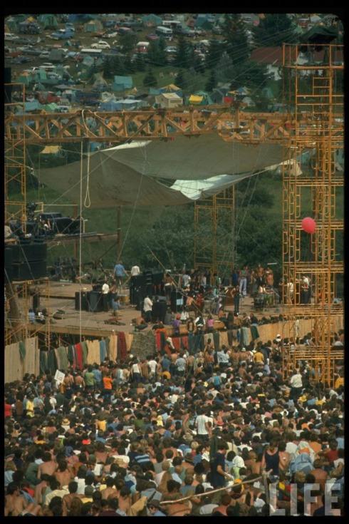 Woodstock, 1969. Foto publicada na Life
